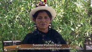 Susana Pacara Toco fondatrice Radio Lachiwana