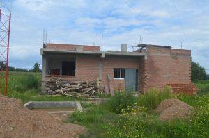 Casa del contadino in costruzione