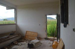 Casa del contadino vista dall'interno
